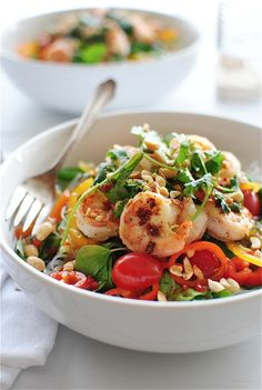 Thai Shrimp Salad (with vermicelli noodles) - from Bev Cooks