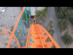 Rollercoaster Goliath! On-Ride Front Seat (HD POV) Six Flags Magic Mountain Roller Coaster SFMM