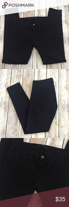 "J Brand The Deal Skinny Ankle Zip Pants Black Black J Brand The Deal Skinny Leg Jeans in size 27. Very good preowned condition with no flaws. Ankle zip. Approximate measurements: waist 28"", rise 8"", inseam 27.5"". ⚓ No trades or holds. I accept reasonable offers. Any measurements given in listings are approximate since I am not a professional seamstress; it is possible these measurements are off by an inch or two. I only negotiate through the offer button. 🚭🐩HB J Brand Jeans Ankle & Cropped"