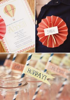 Vintage Hot Air Balloon Inspired Bridal Shower- I think could e cute as a baby shower too!
