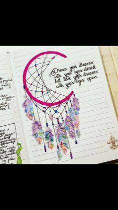 Thinking about creating something more BoHo for your bullet journal? These Dream Catcher Bullet Journal ideas will take it to the next level! Bullet Journal Ideas Pages, My Journal, Bullet Journal Inspiration, Journal Pages, Journal Layout, Dream Journal, Bullet Journal Ideas Templates, Bullet Journal Quotes, Drawing Quotes