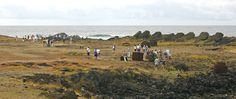 Rapa Nui / Easter Island / Isla de Pascua. Visitors to Ahu Hanga Tee o Vaihu. The site is now fenced off. Rapa Nui archaeology (18). Photo: Mike Seager Thomas, UCL Rapa Nui Landscapes of Construction Project. You are welcome to use/ circulate the photo but please credit it to the project