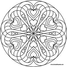 heart mandala to color- PNG version
