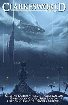 Clarkesworld Magazine Issue 101 : Cover Art: Lady and the Ship by Atilgan Asikuzun