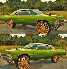 Dont know what that hood snout about wer I'm from o. Old American Cars, American Muscle Cars, Classic Hot Rod, Classic Cars, Turbo System, Donk Cars, Chevrolet Caprice, Rims For Cars, Old School Cars