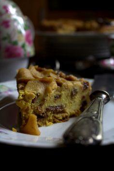 Torta di mele con avanzi di panettone – vaniglia e cannella