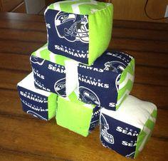 Hawks Blocks  Soft Seattle Seahawks Baby Blocks by BYOBgoods, $25.00