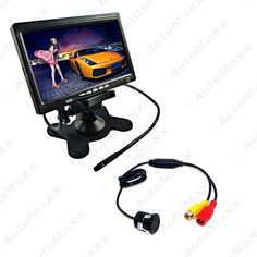 """63.35$  Buy now - http://aliers.worldwells.pw/go.php?t=32707051691 - """"7"""""""" Headrest Standalone TFT LCD Monitor With CCD Mini Camera Car Rearview Systme DC12V #J-3756"""""""