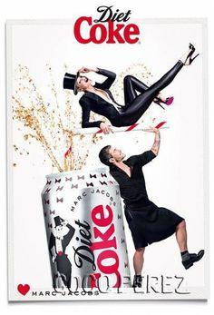 New Coke Ads | Marc Jacobs Resurrects His Kilt For New Diet Coke Ads! | CocoPerez.com