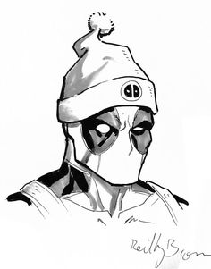 Deadpool with a hat by ReillyBrown on DeviantArt