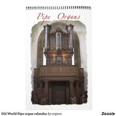 Shop Old World Pipe organ calendar created by organs. Saint Etienne, Hidden Treasures, St Michael, Concert Hall, Gifts For Family, Old World, Parisian, Cathedral, Calendar