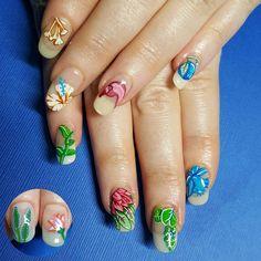 """@hermes inspired #nailart on these gorgeous #naturalnails. #nailart #gelpolish #handpainted #ignails #longnails #naillife #amivega #hermes"""