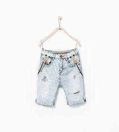 ZARA KIDS, Spring-Summer 2015, boys jeans, Bermuda denim tirantes niño