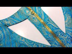 #कुर्ती का न्यु स्टाईल बैक नेक डिजाइन विथ जिप#'Kurti new stylist back neck designer with Jeep sahit - YouTube