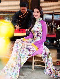 Xao xuyen ngam Thu Thao nang niu ta ao dai - 9