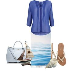 """Gitanes pleated georgette shirt"" by nougatlondon on Polyvore"