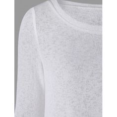 Back Bowknot Lace Panel Long Sleeve Knit Top - WHITE WHITE