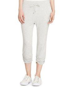 Lauren Ralph Lauren French Terry Capri Pant Women's Grey X-Small