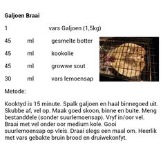 Braai Recipes, Fish Recipes, Seafood Recipes, Healthy Foods, Healthy Recipes, South African Recipes, Fish And Seafood, Biscuits, Heaven