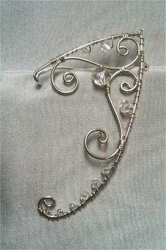 Fairy Jewelry, Fantasy Jewelry, Cute Jewelry, Jewelry Accessories, Jewelry Design, Handmade Wire Jewelry, Diy Crafts Jewelry, Elf Ears, Jewelery