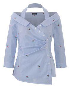 burda style, Schnittmuster, Streifenbluse Plus F/S 2018 #404, Verknöpft? Nein! Diese trendige Bluse mit raffinierter Faltengebung im Taillenbereich interpretiert den klassischen Blusenschnitt neu.