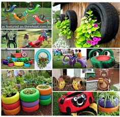 Everything Tire idea's - like the flower gardens.