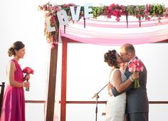 I am absolutely wild about this whimsical and vibrant Puerto Vallarta wedding by Elizabeth Lloyd and The Dazzling Details . Plan My Wedding, Wedding Prep, Wedding Ideas, Wedding Stuff, Wedding Canopy, Wedding Ceremony, Tulle Wedding, Reception, Beach Wedding Decorations
