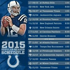 2015 Indianapolis Colts Schedule Indianapolis Colts Schedule d9c49ed73