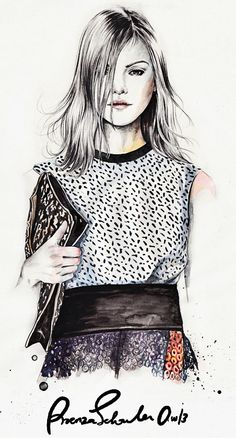 Esra Roise fashion illustrations Esra is a Norwegian freelance illustrator based in Oslo. Her clients include VOGUE. Moda Fashion, Fashion Art, Girl Fashion, Fashion Dresses, Fashion Design, Fashion Sketchbook, Fashion Sketches, Fashion Drawings, Fashion Illustration Techniques