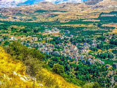 LEBANON, VIEW OF BSHERRI & SURROUNDING AREA