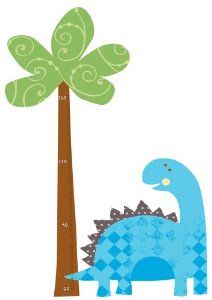 RoomMates Repositionable Childrens Wall Stickers   Babysaurus Height Chart:  Amazon.co.uk:
