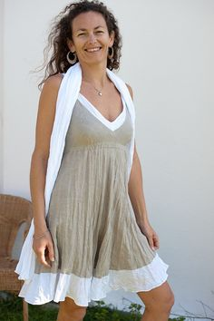 Hey, I found this really awesome Etsy listing at https://www.etsy.com/listing/94474142/short-crinkled-linen-dress-in-natural