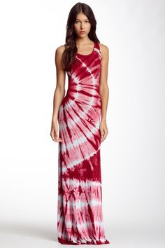 Tie-Dye Racerback Maxi Dress by Go Couture on @HauteLook