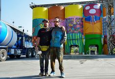 """Brazilian twin graffiti artist paint """"Giants""""   Vancouver Biennale"""