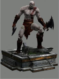 KRATOS STATUE 3D MODEL by SONICX2011