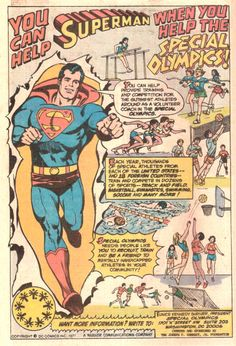 Superman Promotes The Special Olympics