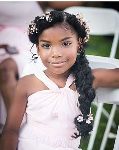 44 Sweet Daughter Hairstyles Ideas to Copy Now Breathtaking 44 Sweet Daughter Hairstyles Ideas to Co Wedding Hairstyles For Girls, Kids Braided Hairstyles, Flower Girl Hairstyles, Black Girls Hairstyles, Junior Bridesmaid Hairstyles, Teenage Hairstyles, Simple Hairstyles, Hairstyles 2016, Formal Hairstyles