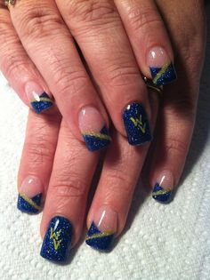 Want to get my nails done like this for graduation! Almost WVU alum! <3 #almostheaven