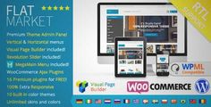 Download and review of FlatMarket - Multi-Purpose WooCommerce theme + RTL, one of the best Themeforest eCommerces themes