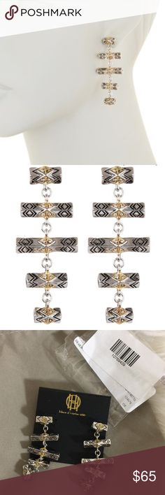 House of Harlow 1960 Drop Tribal Earrings Brand new with tags. Offers will only be discussed/accepted through the offer button. House of Harlow 1960 Jewelry Earrings