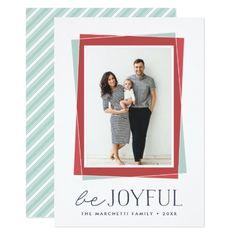 Joyful Symmetry | Holiday Photo Card