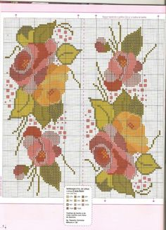 Gallery.ru / Фото #57 - COZINHA - nnetthynunes Roses in hues of pinks and red / Roses in Hues of Yellows and Light Orange Free Cross Stitch Patterns