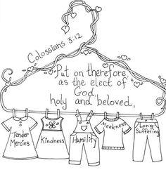 Colossians 3:12 Bible coloring page / #bible #coloringpage #colossians #cccpinehurstcm