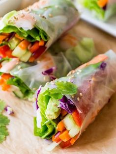 Fresh Summer Rolls | Easy Spring Roll Recipes | homemaderecipes.c...