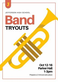 School Band Tryouts Poster