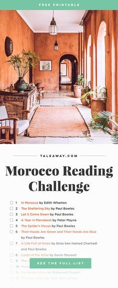 Books Set In Morocco. For more Moroccan books that inspire travel visit www.taleway.com. books morocco, morocco book, books about morocco, morocco inspiration, morocco travel, morocco reading, morocco reading challenge, morocco packing, marrakesh book, marrakesh inspiration, marrakesh travel, travel reading challenge, fes travel, casablanca travel, tangier travel, desert travel, reading list, books around the world, books to read, books set in different countries, books and travel