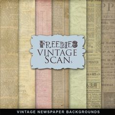 Freebies Vintage Newspaper Backgrounds Kit ~ Far Far Hill