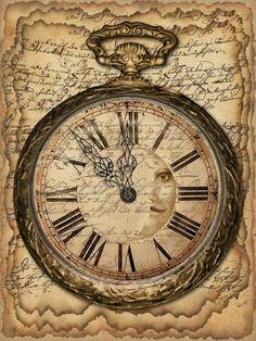 clock design ideas 478014947943541662 - Horloges , montres , reveils 93 Source by patochmass Decoupage Vintage, Decoupage Paper, Vintage Paper, Vintage Art, Newspaper Art, Vintage Labels, Vintage Images, Vintage Prints, Scrapbook Paper
