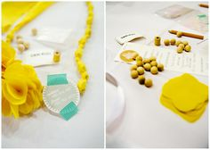 prepare a craft kit with all the supplies to create a fabric necklace. The necklaces are very simple to make
