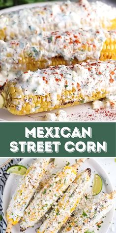 Easy Mexican Street Corn on the Cob- this street corn is super easy to make on the grill and is the perfect side dish that everyone will enjoy!